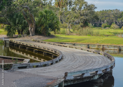 Photo  Wood bridge near Amelia Plantation in Nassau County, Florida.