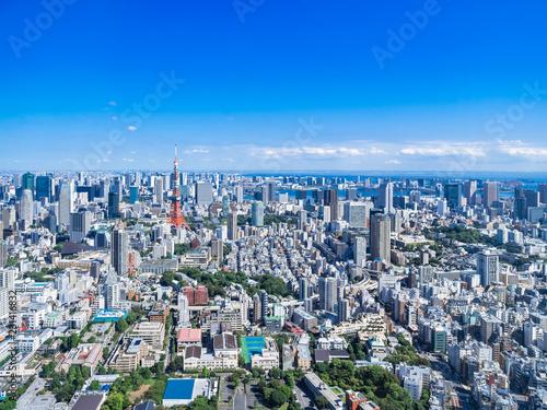 Foto auf AluDibond Tokio 東京 青空と都市風景