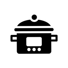 Crock-pot Icon. Trendy Crock-p...