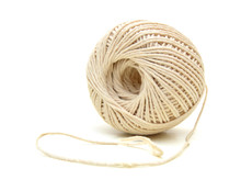 Ball Of Twine On A White Backg...