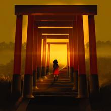 Girl Walking Through Famous Tu...