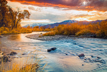 Fall Dusk Along The Provo Rive...