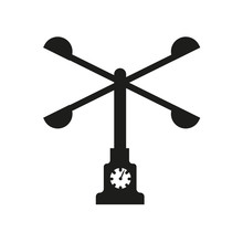 Anemometer Icon. Trendy Anemometer Logo Concept On White Background From Weather Collection