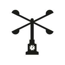 Anemometer Icon. Trendy Anemom...