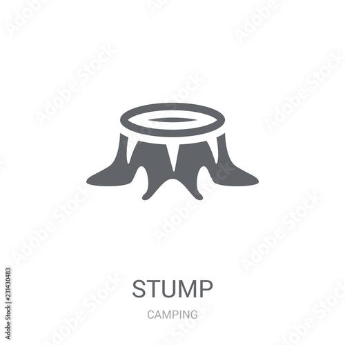 Stump Icon. Trendy Stump Logo Concept On White Background