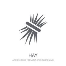 Hay Icon. Trendy Hay Logo Conc...
