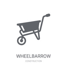 Wheelbarrow Icon. Trendy Wheel...