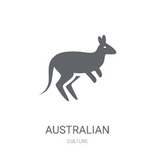 Australian Kangaroo Icon. Trendy Australian Kangaroo Logo Concept On White Background From Culture Collection