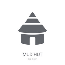 Mud Hut Icon. Trendy Mud Hut Logo Concept On White Background From Culture Collection