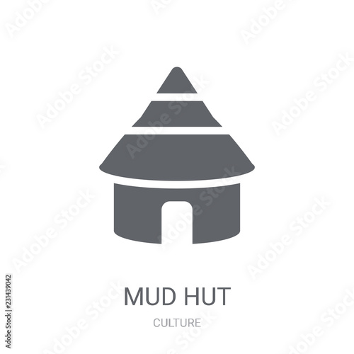Cuadros en Lienzo Mud hut icon