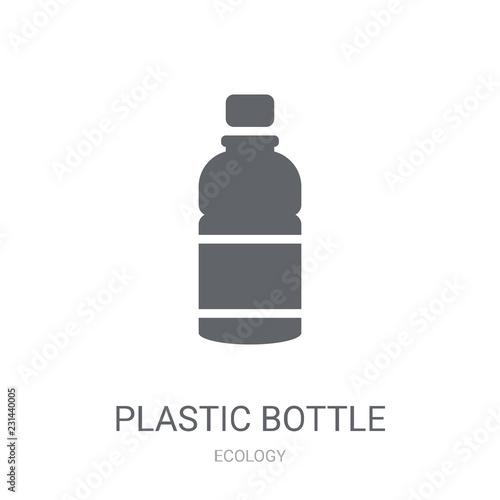 Fotografie, Obraz  Plastic bottle icon