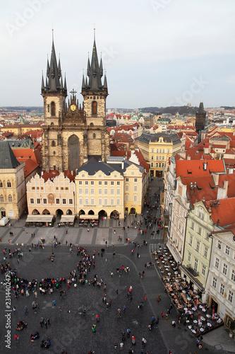 In de dag Praag Prague Old Town Square