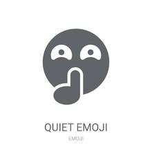 Quiet Emoji Icon. Trendy Quiet...