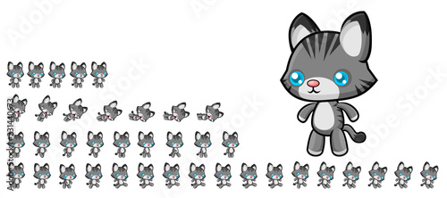 фотография Animated Cat Game Character