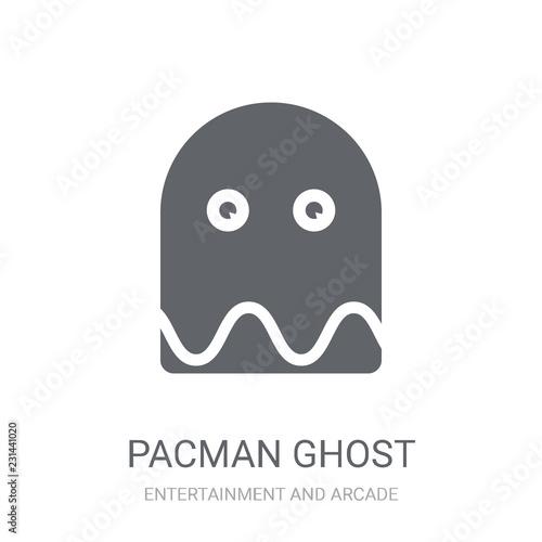 Fotografie, Obraz  Pacman ghost icon