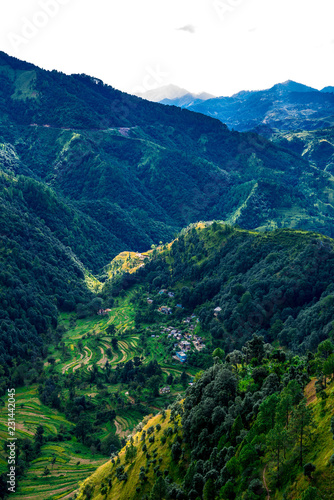 Foto op Aluminium Nachtblauw Landscape of Mountain in Pithoragarh, Uttarakhand, India