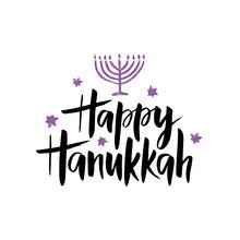 Hanukkah Hand Drawn Lettering Typography