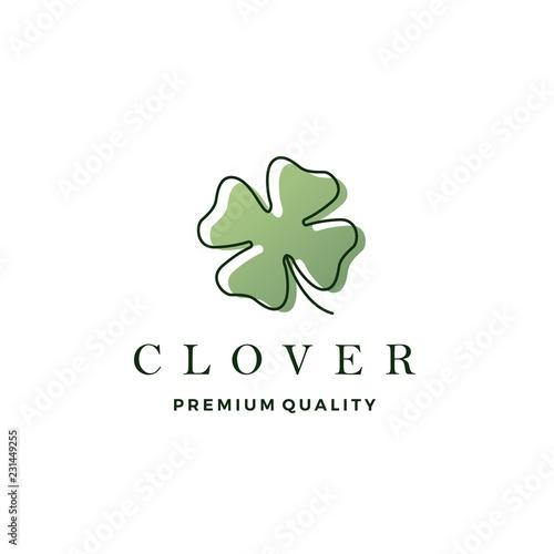 clover leaf logo vector icon illustration Poster Mural XXL