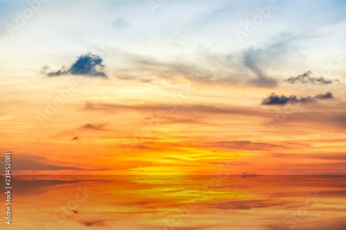 Staande foto Asia land Beautiful sunrise