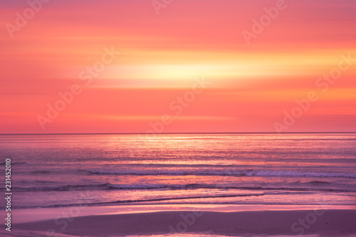 Spoed Foto op Canvas Asia land sunset in the Ocean