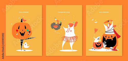 Valokuva  Cute Halloween day concept illustration