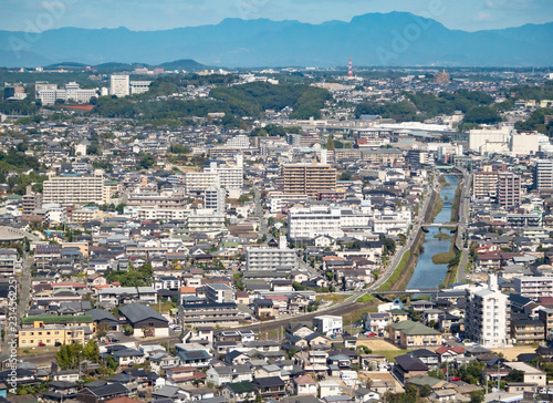 Fotobehang - 都市風景 熊本市