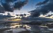 Cloudy Sunrise Seascape from Rock Platform