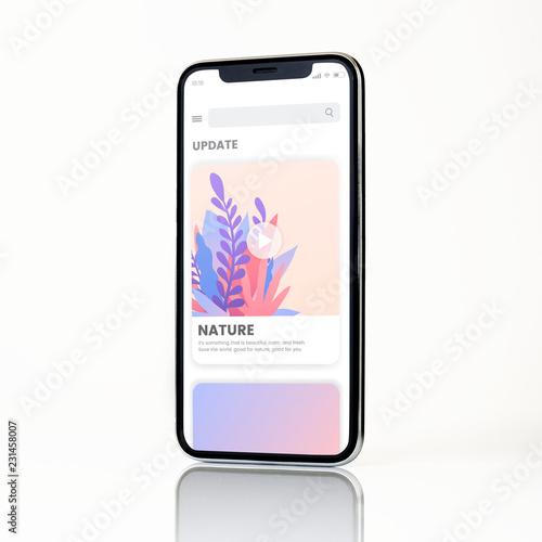 Fototapeta Full screen smartphone mockup design obraz