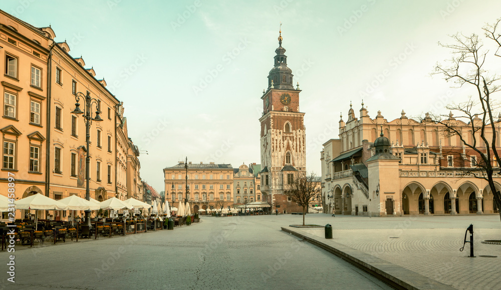 Fototapety, obrazy: Panorama krakowskiego starego miasta