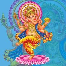 Dancing Golden Ganesh