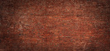 Fototapeta Bathroom - Wide angle Vintage Red brick wall Background