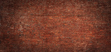 Wide Angle Vintage Red Brick W...