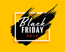 Modern Black Friday Background With Ink Effect