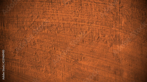 Fotobehang Stof Brown bright scratched stone wall surface with traces of processing
