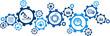 Digitalization concept: enterprise IoT, smart factory, industry 4.0 - vector illustration