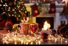 Christmas Still Life With Mugs...