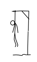 Illustration Of A Hanged Man. Vector. Dead In The Loop. Metaphor. Linear Style. Illustration For Website Or Presentation. The End, The Finale Of Life.