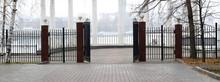 Beautiful Classic Gate In The Park