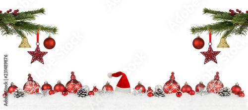 Weihnachten Dekoration mit Textfreiraum Canvas Print