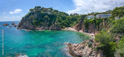 Foto op Canvas Barcelona Costa Brava coastline seen from Marimurtra botanical garden in Blanes, Spain