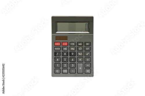 Fotomural  Black Calculator on isolated white background, Top View