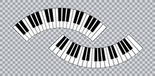 Piano Icon And Keys Of Piano Concept Modern Music Print And Web Design  Poster On White Vector Illustration