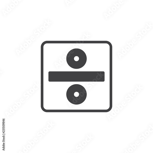 Photo  Division sign vector icon