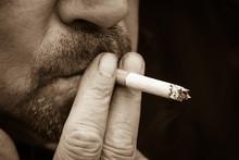 A Cigarette Smoking Man, Sepia...