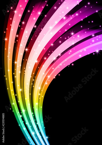 Fotografia, Obraz  噴出する輝きの背景