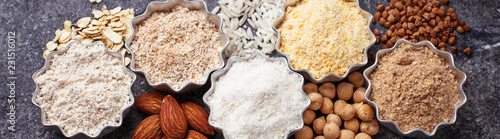 Fotografie, Obraz  Selection of various gluten free flour