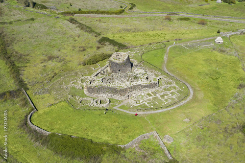 Photo  Aerial view of the ancient Santu Antine Nuraghe