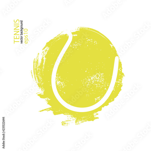 Obraz na plátně Vector illustration tennis ball isolated