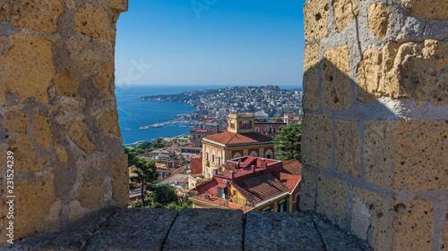 Deurstickers Napels Neapel – Stadtansicht vom Castel Sant'Elmo