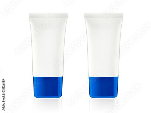 Fotografie, Obraz  White glossy plastic tube for medicine or cosmetics - cream